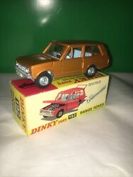 Dinky Toys 192 Range Rover Mint Boxed With Speed Wheels