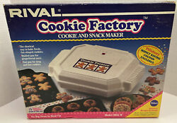 Rival Cookie Factory Cookie And Snack Maker Model 9952w Manual And Pillsbury Recipes