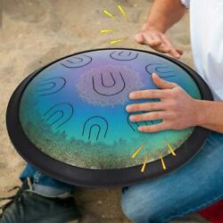 14.6andtimes3.9in Hand Pan Handpan Hand Tongue Drum A/c/d/e/f/g/a/c/d Scale Storage Bag