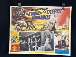1958 Attack Of The Puppet People Horror Authentic Mexican Lobby Card Art 16x12