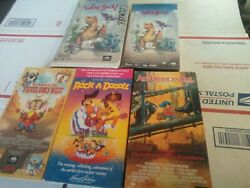 5 Stephen Spielberg Vhs Mca Don Bluth American Tail We're Back Rock A Doodle Fie
