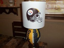 Pittsburgh Steelers Football Table Lamp Handcrafted