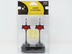 O Scale K-line K010510 Lighted Station Signs Scenery 2-pack