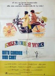 Harold And Maude - Hal Hasby / Motorcycle - Original Argentinian Movie Poster