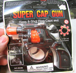 Super Cap Gun Kids Toy, Fires 8 Shot Ring Caps Not Included, Ages 5 And Up