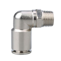High Pressure Air Pneumatic Push In Fitting Elbow Connector Male For 416mm Hose