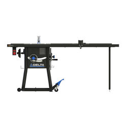 Delta 36-5152t2 15 Amp 52 In. Contractor Table Saw W/ Cast Ext. New