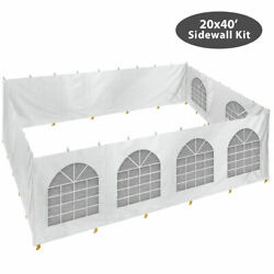 Block-out Sidewall Kit For 20x40' High Peak Tent Waterproof Solid And Window Panel