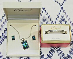 Kim Rogers Necklace And Earring Set And Bangle Bracelet - New With Tags In Boxes