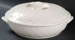 English Countryside White By Mikasa 2 Qt Round Covered Casserole