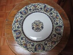 Black Knight Westchester Pattern Dinner Plates Set Of Four