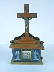Vintage Last Rites Sick Call Set Crucifix 12 Stations Of The Cross Wall Altar