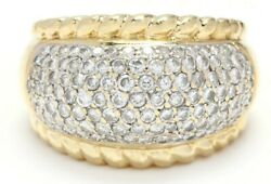 18k Yellow And White Gold Diamond Dome Ring