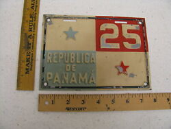 1930and039s Republic Of Panama License Plate 25 - Good Roads Charles Henry Davis