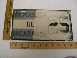 1930and039s Republic Of Nicaragua License Plate 25 - Good Roads Charles Henry Davis