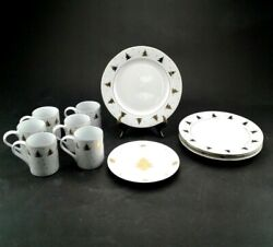 Tienshan Golden Pines 11 Piece Dinner Set Fine China Christmas Discontinued New