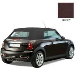 2009-15 Mini Cooper Convertible Top Brown Twillfast Rpc And Heated Glass Window