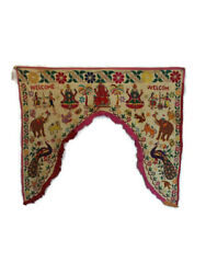 Indian Traditional Embroidered Handmade Toran Gate Topper Door Hanging Valance