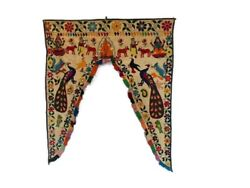 Embroidered Handmade Toran Gate Topper Door Hanging Valance Indian Traditional