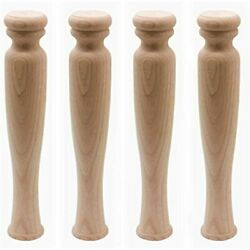 Weichuan 14andquot Solid Unfinished Rubber Wood Furniture Legs Replacement Bench