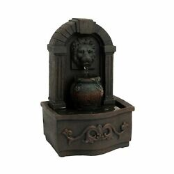 Pure Garden 50-lg5069 Tabletop Water Fountain-classic Lion Head Polyresin Ind...