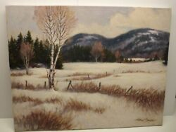 Canada Quebec Painting By Helmut Langeder 22 X 28 Charlevoix Warm Winter Day