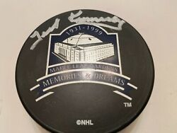 Ted Kennedy Toronto Maple Leafs Autographed Auto Signed Hockey Puck Coa Gardens