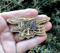 Navy Seal Team Four Uss Donald L. Mcfaul Ddg 74 Cpo Mess Trident Challenge Coin