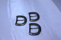 Lot Of 3 D Ring Buckles Vintage For Reenactment Uniform Leather Work