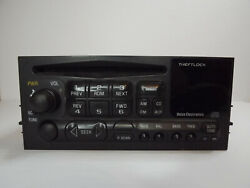 Chevy Delco Am/fm Cd Radio W/aux Input For 95-02 Car/truck 09383075 Used