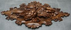 Antique Black Forest 38 Swiss Carved Game Plaque