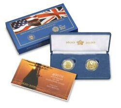20xa 400th Anniversary Of The Mayflower Voyage Two-coin Gold Proof Set Rare-4850
