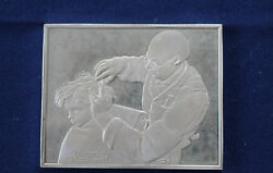 1973 Franklin Mint Rockwelland039s Fondest Memories At The Barber Silver Bar P0191