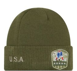 2019 New England Patriots New Era Salute To Service Knit Hat Sideline Beanie Cap