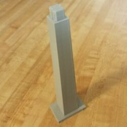 Extra Tall Track Support Column Pier For Disney Monorail Play Set