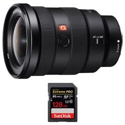 Sony Fe 16-35mm F2.8 Gm Wide-angle Zoom Lens W/ Sandisk 128gb Memory Card
