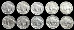 10 1937 D United States Buffalo Nickel 5c Coin Choice Brilliant Uncirculated