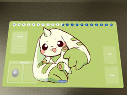 DTCG Duel Playmat Digimon Board Terriermon Anime Trading Card Game Mat Desk Pad