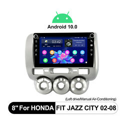 For Honda Jazz City Fit 2002-2008 Aftermarket Stereo Android10 Navigation System