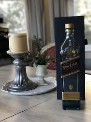 Johnnie Walker Blue Label Whiskey Collectors Case Box And Empty Bottle 750 Ml