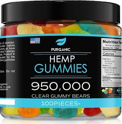 Natural Gummies For Stress Relief - Great For Pain, Insomnia And Anxiety - 100ct