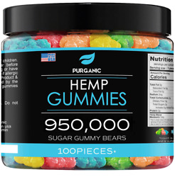 Natural Gummies For Stress Relief - Sour - For Pain, Insomnia And Anxiety - 100ct