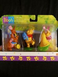 Fisher Price Pooh Collectibles- Kanga And Roo, Pooh, Piglet 1999 Edition Unopened