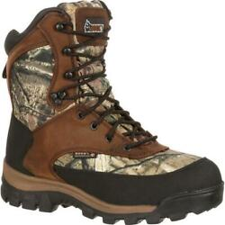 Rocky Menand039s Core W/p Insulated Boot Brown And Mossy Oak Brk Up Inf Fq0004755
