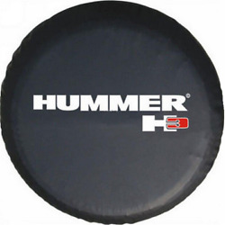 Black 32 33 Spare Wheel Tire Cover Bag Protector For Hummer H3 Logo 2006-2010
