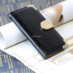 For Apple Iphone 6s/plus Crocodile Pu Leather Card Slot Wallet Pouch Stand Case