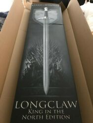 Longclaw Damascus Signed King In The North Edition Scabbard And Box Included.
