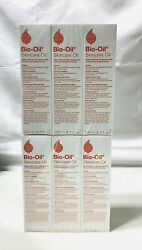 6 Pack Bio-oil 6.7 Oz Each Skincare Oil For Scars And Stretch Marks New And Sealed