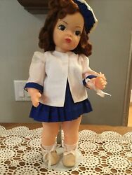 Doll Terri Lee Auburn Raysheen Wig 3 Piece Summer Suit Tagged 1950and039s