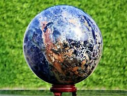 Huge And Large 260 Mm Blue Sodalite Crystal Stone Healing Power Reiki Sphere Ball